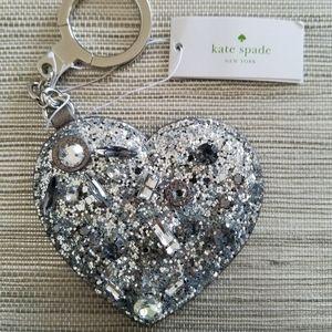 "New Women's ""Kate Spade"" Heart Key Chain"